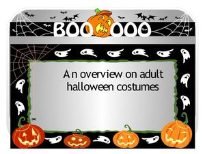 An overview on adult Halloween costumes