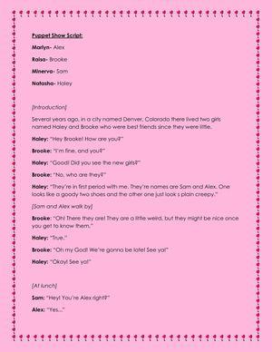 how to write a show script
