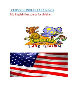my english first course for children