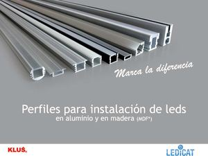 Calam o perfiles aluminio tira de led - Tiras de aluminio ...