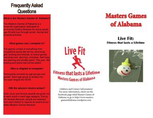 Masters Games of Alabama Brochure