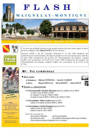 Mairie de Maignelay-Montigny - Flash n°116 Mai 2012