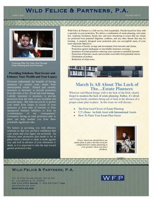 Florida Estate Planning Newsletter