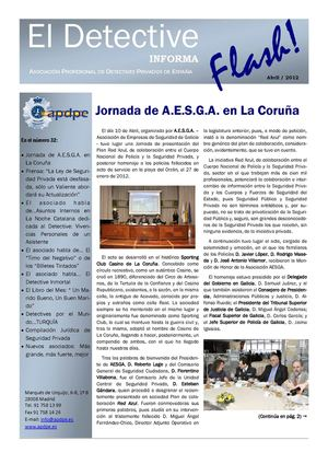 Revista Flash APDPE Abril 2012