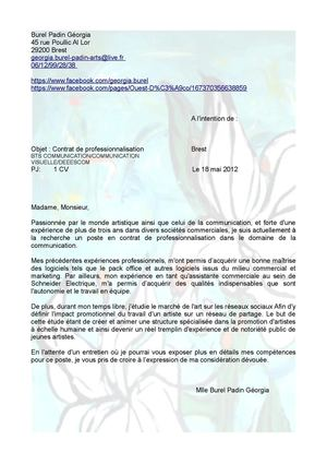 Lettre de motivation alternant communication visuelle deeescom