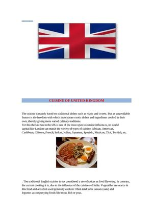 Cuisine United kingdom