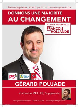 Gerard Poujade - Législatives Tarn 2012 - Circonscription 1 - Tract Albi