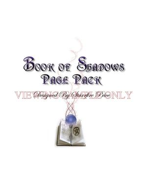 Full Color Book of Shadows Printable Page Pack Sample