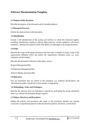 Software Documentation Template 28 Images Documentation Plan