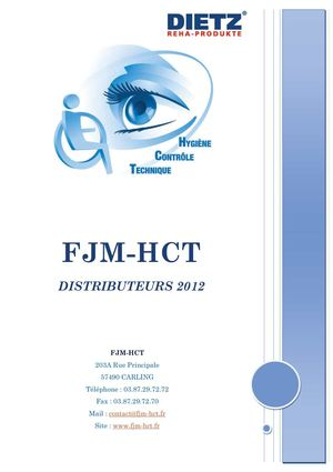 Catalogue FJM-HCT Distributeurs 2012