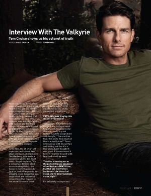 Tom Cruise:  Interview w/ the Valkrie