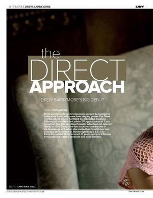 "Drew Barrymore: ""The Direct Approach"""