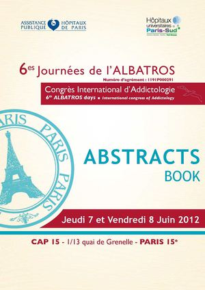 Journées de l'Albatros 2012 - Abstracts book