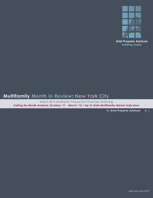 Multifamily Month in Review - New York City, March 2012