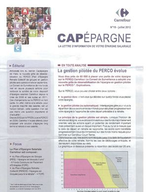 CARREFOUR CAPEPARGNE n°19 juillet