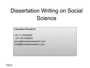 social science dissertation outline