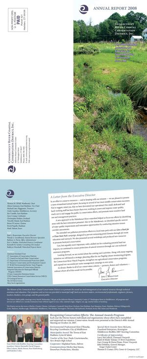 2008 Annual Report, Connecticut River Coastal Conservation District