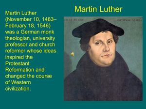 martin luther and his views on