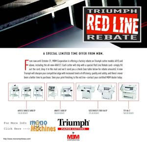Triumph $375 Gift Card for the Triumph 5222 Digicut Paper Cutter