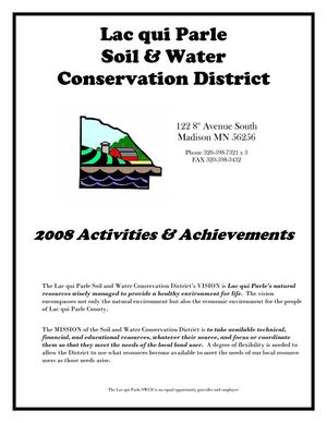2008 Annual Report - Lac qui Parle Soil and Water Conservation District