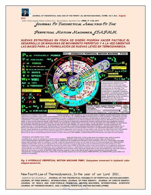 PERPETUAL MOTION : RESOLVED THE  THEORETICAL PROBLEM  OF PERPETUAL MOTION MACHINE FOR CREATE ENERGY.  lNTERNATIONAL SCIENTIFIC JOURNAL FOR CREATE ENERGY   Editor: Ramiro Augusto Salazar La Rotta, D.Sc.