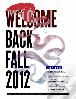 2012 Samford Welcome Back Newsletter
