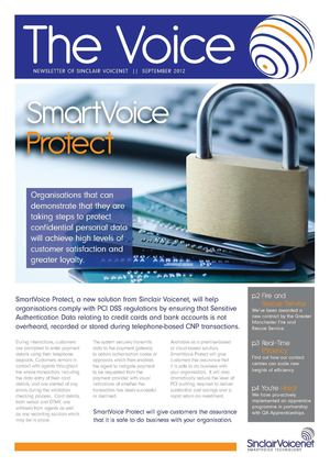 Sinclair Voicenet - September 2012 Newsletter