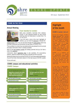 ESHRE Update September 2012