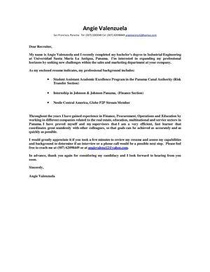 practica industrial iii ejemplo de cover letter - Ejemplo De Cover Letter