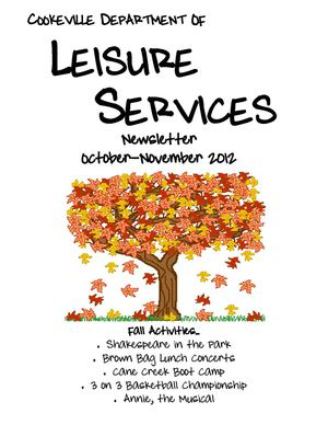 Cookeville Leisure Services October/November 2012 Newsletter