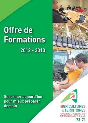 Calam o offre de formations 2012 2013 de la chambre d 39 agriculture savoie mont blanc - Formation chambre d agriculture ...