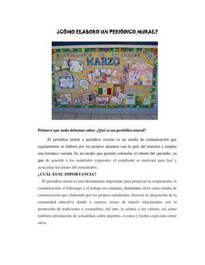 Calam o elaboraci n de peri dico mural for Editorial de un periodico mural