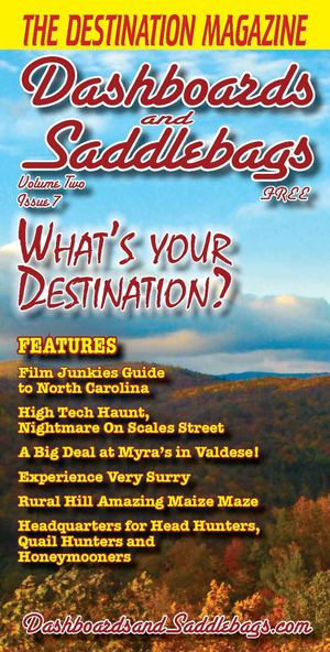 "Dashboards and Saddlebags ""The Destination Magazine"" October 2012"