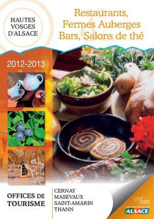 Calam o guide des restaurants fermes auberges bars salons de th - Office de tourisme de cernay ...