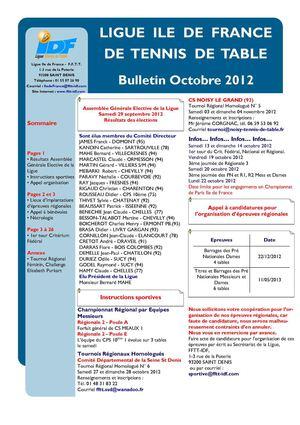 Calam o boctobre2012 - Ligue idf tennis de table ...