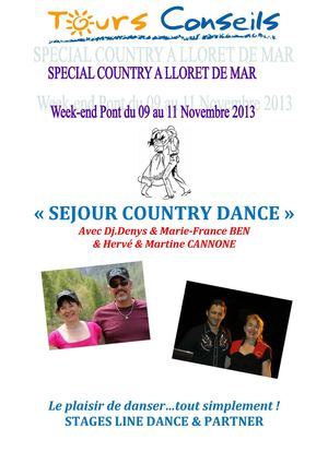 SEJOUR COUNTRY - ESPAGNE 2013