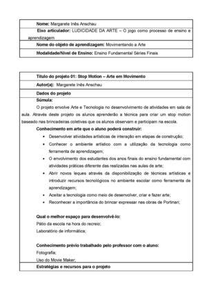 Calaméo - Fichamento dos Projetos
