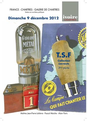 TSF - TELEGRAPHES : Collection de M. Lacrouts 09-12-2012