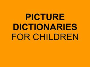 Picture dictionaries instructions