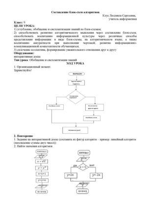 Уроки информатики 9 класс