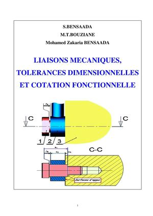Tolerances,cotation fonctionnelle