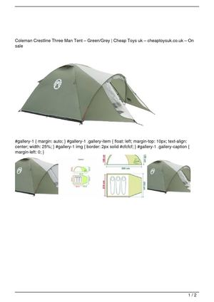 Coleman Crestline Three Man Tent u0026#8211; Green/Grey Promo Offer  sc 1 st  Calameo & Calaméo - Coleman Crestline Three Man Tent u0026#8211; Green/Grey ...