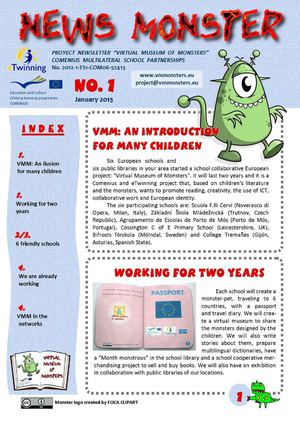 News Monster - Newsletter n1