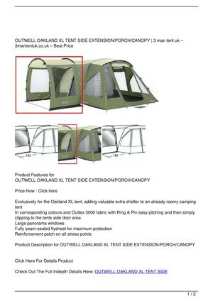 OUTWELL OAKLAND XL TENT SIDE EXTENSION/PORCH/CANOPY Discount !  sc 1 st  Calameo & Calaméo - OUTWELL OAKLAND XL TENT SIDE EXTENSION/PORCH/CANOPY ...