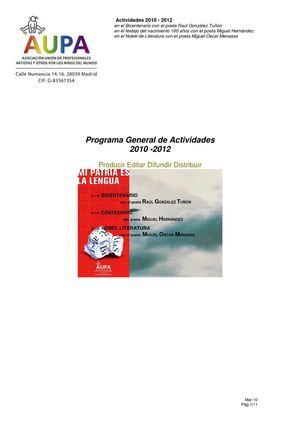 Programa AUPA 2010