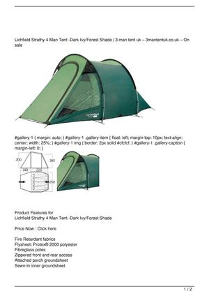 Lichfield Strathy 4 Man Tent -Dark Ivy/Forest Shade Big SALE  sc 1 st  Calameo & Calaméo - Lichfield Strathy 4 Man Tent -Dark Ivy/Forest Shade Big SALE