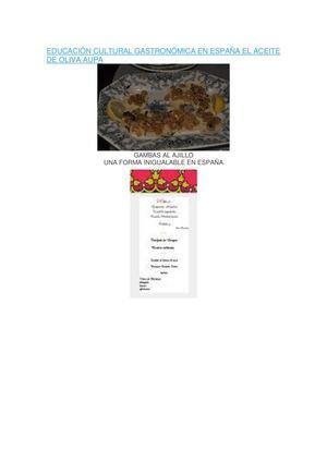 cultura gastronómica por las cocinas de españa