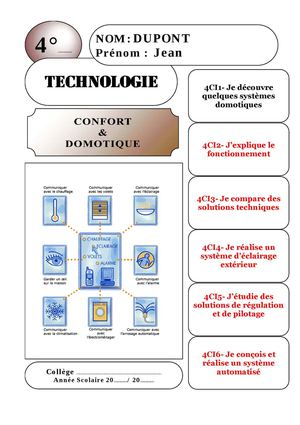 evaluation technologie 4eme