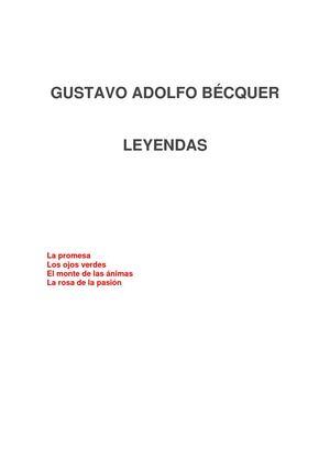 GUSTAVO ADOLFO BÉCQUER LEYENDAS TOMO I