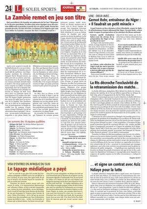 Journal de la CAN 2013